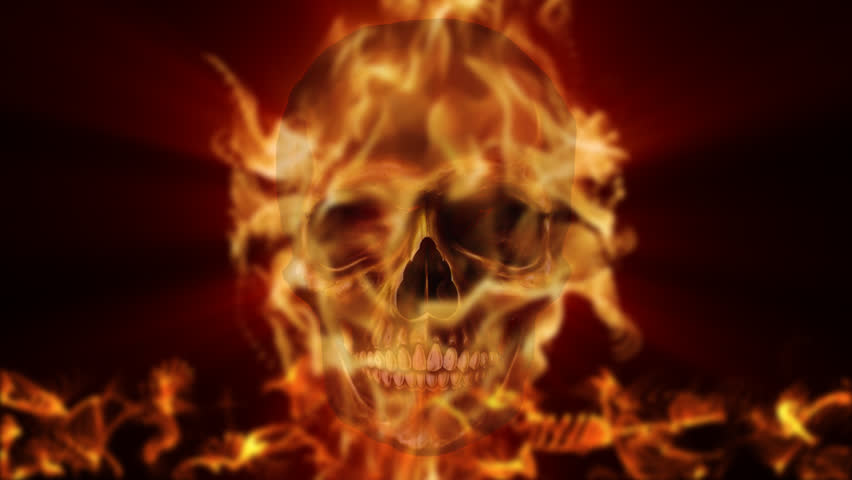 Flaming skull burning in hell fire stock footage video 328306 flaming skull burning in hell fire stock footage video 328306 shutterstock voltagebd Images