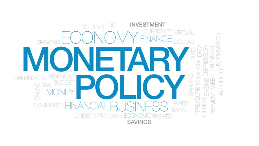 Monetary policy animated word cloud, text design animation. Kinetic typography. Kinetic typography. | Shutterstock HD Video #32834083