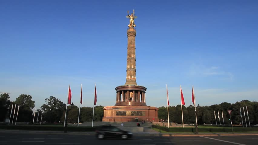 Neoclassical monument in roundabout. Berlin.  | Shutterstock HD Video #3284696