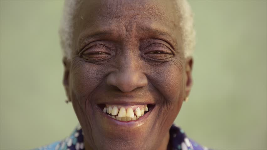 Portrait Of Old Black People, Happy Senior African