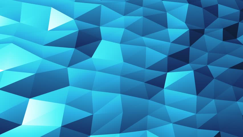 Abstract cg polygonal crystal surface. Geometric poly Blue triangles motion background. | Shutterstock HD Video #32909956