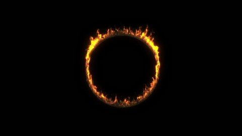 burning ring of fire. alpha channel.