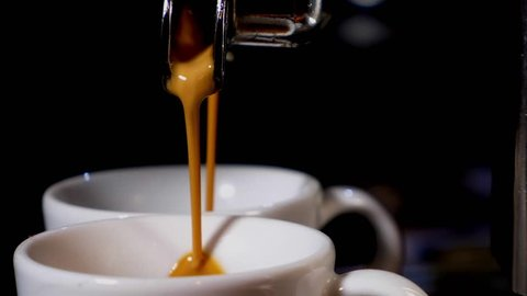 coffee espresso shot from coffee machine