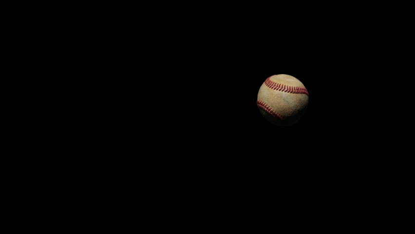 4k Super Slow Motion Baseball pitch passing through frame