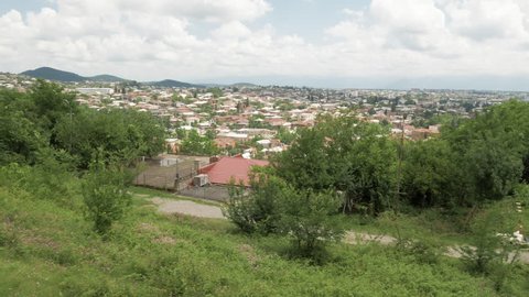 The view of city Kutaisi from Bagrati Cathedral area, Georgia