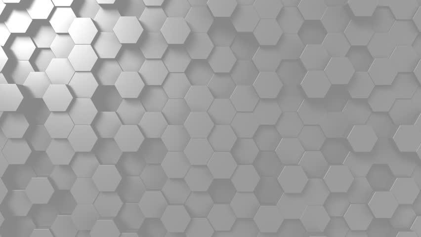 Abstract light gray hexagonal motion background, seamless loop | Shutterstock HD Video #33016804