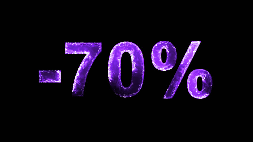 Luminous and shimmering haze inside the letters of the sale, discount, price, promotion, offer, promo, marketing, percent, tag, sale tag, -70%. Transparent, Alpha channel | Shutterstock HD Video #33019774