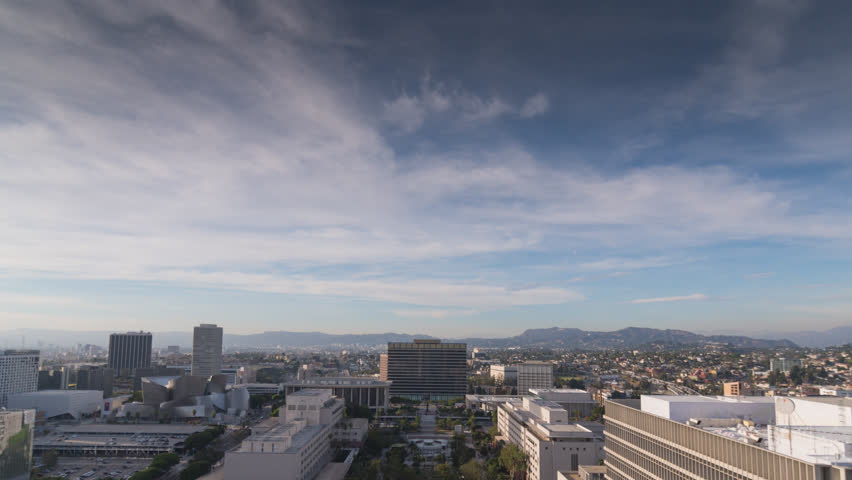 Downtown Los Angeles on a smoggy day Time Lapse 4k  DTLA | Shutterstock HD Video #33023041