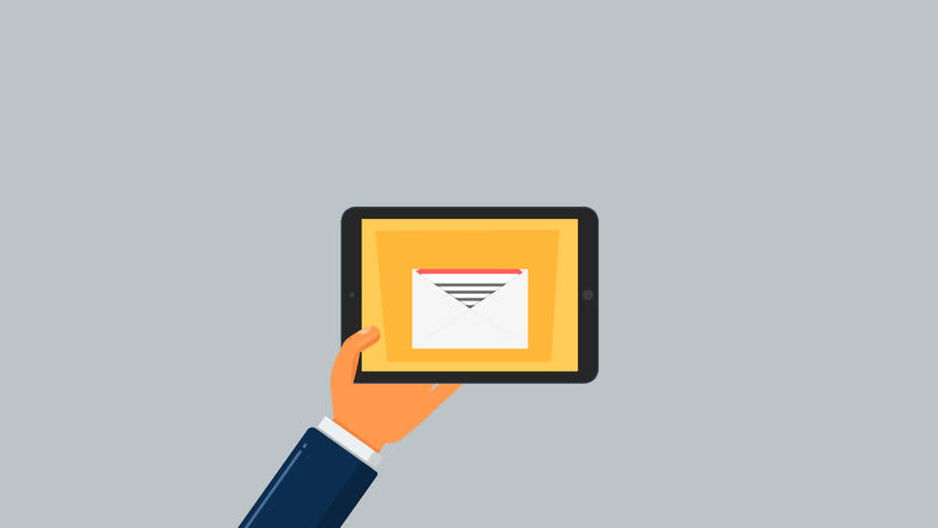 Hand with a tablet on which receive email   Shutterstock HD Video #33062047