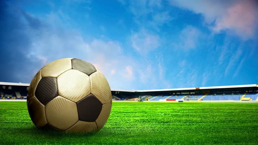 Seamless Vinyl Photography Backdrop Football Stadium Match: Football Background, Soccer Ball On The Grass At Stadium