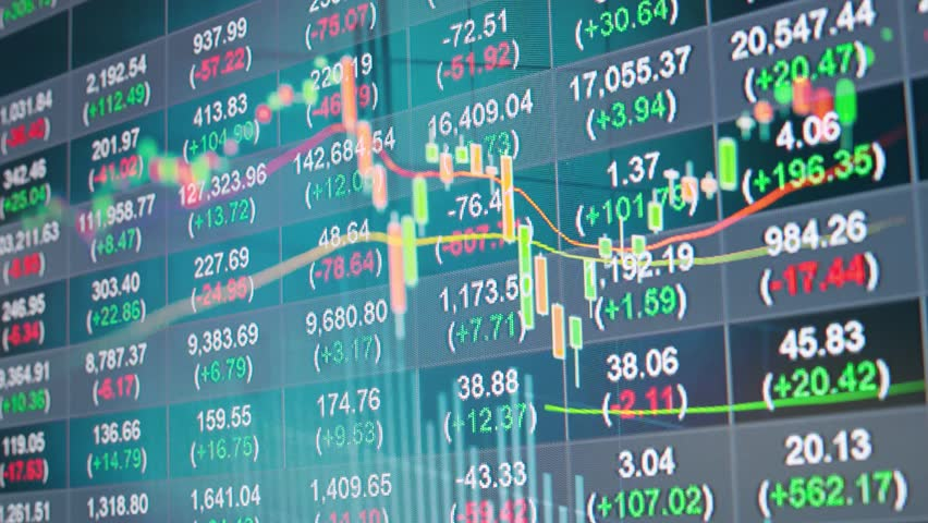 Stock chart in double exposure background | Shutterstock HD Video #33091615
