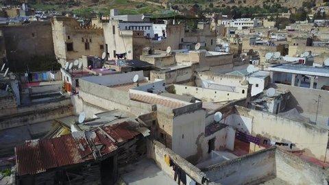 Drone aerial shoot over Casablanca Marrakesh Agadir Fez Morocco travel