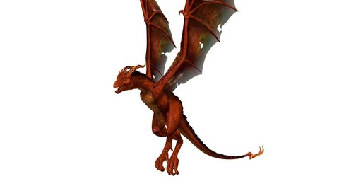 3D CG rendering of a dragon