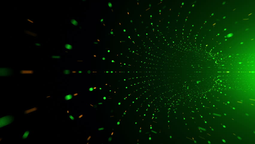 Abstract background with flying into digital tunnel from flickering particles | Shutterstock HD Video #33194116