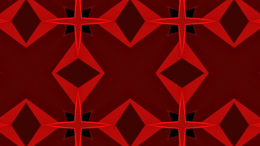 Red abstract kaleidoscope background. 3d render slow moving, changing shapes | Shutterstock HD Video #33223186