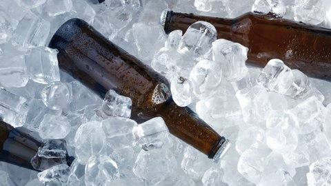 Cold Beers Packed In Ice
