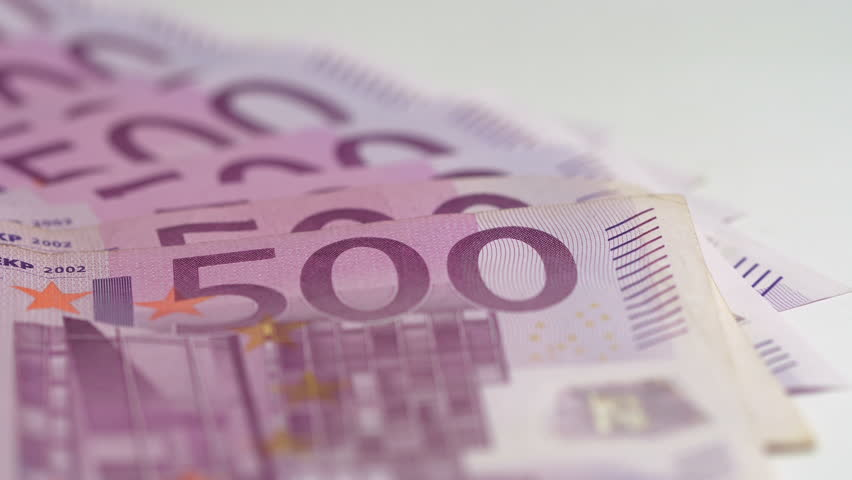 500 Euro bills spinning | Shutterstock HD Video #33268306