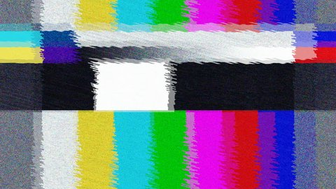 Distorted Television bars signal. Error on the test signal