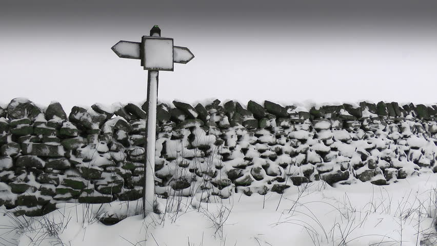 Winter Sign Post.