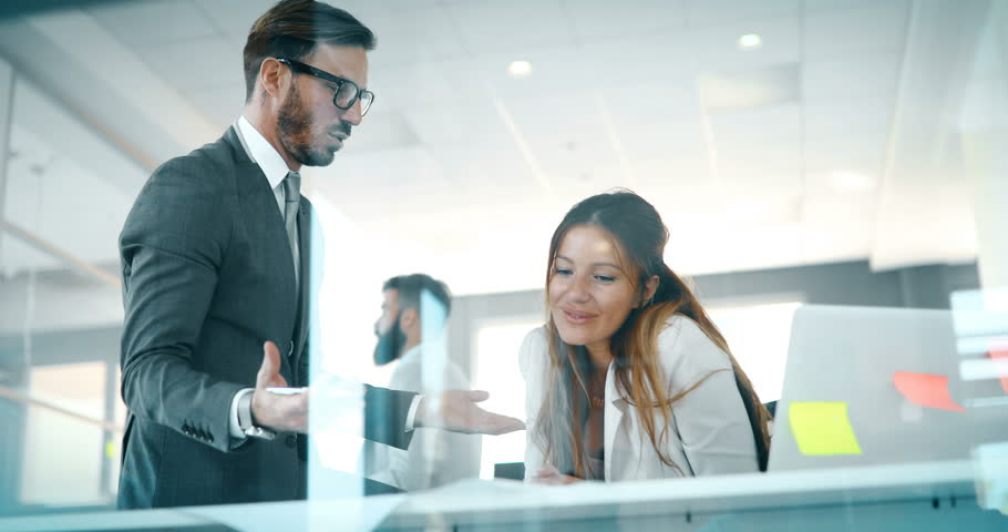 Portrait of architects having discussion in office | Shutterstock HD Video #33381520