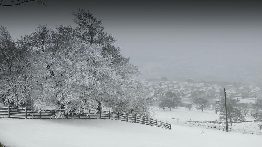 Winter Field. A Winters scene A serene snow covered Field ideal as a establishing shot.