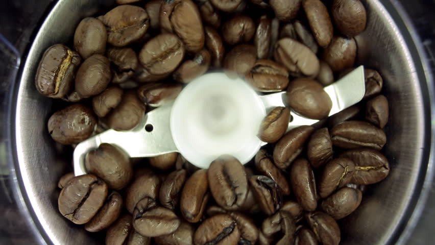 electric coffee grinder works with sound macro