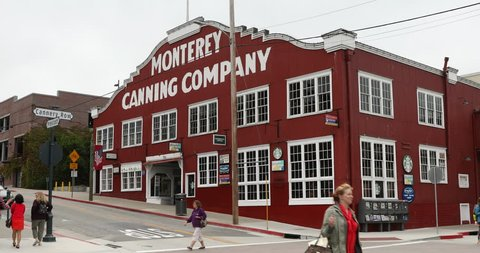 Monterey, USA - November 01, 2011: Cannery Row is the waterfront street in the New Monterey section of Monterey, California by the Pacific Ocean.