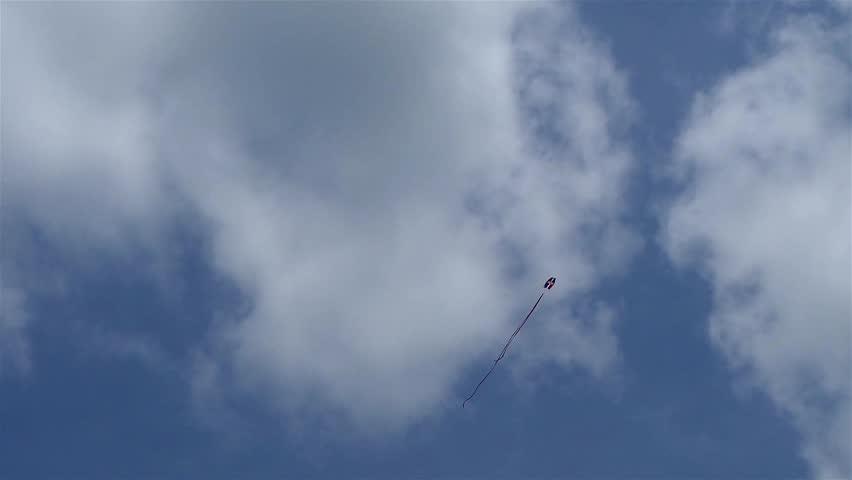 Dominican republic kite flying in sunny summer blue sky | Shutterstock HD Video #33533626
