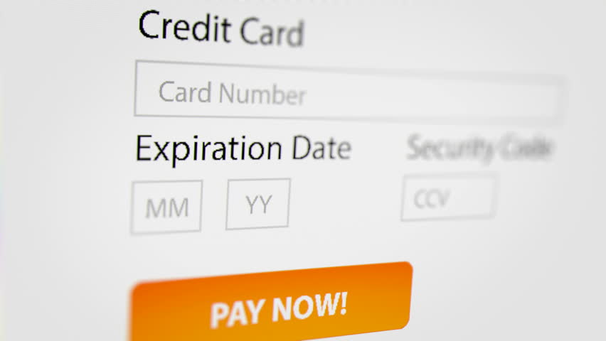 Close Up Shot of Online Purchase with Credit Card. Online Shopping Business Concept. | Shutterstock HD Video #33552076