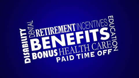 Benefits Employee Health Care Insurance Retirement 3d Animation