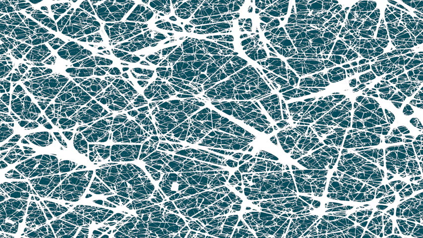 Animated cracked background. Connected lines. Medical and science background. Abstract neurons net