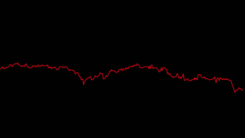 Red line graph on black background chart of stock market investment trading. | Shutterstock HD Video #33700729