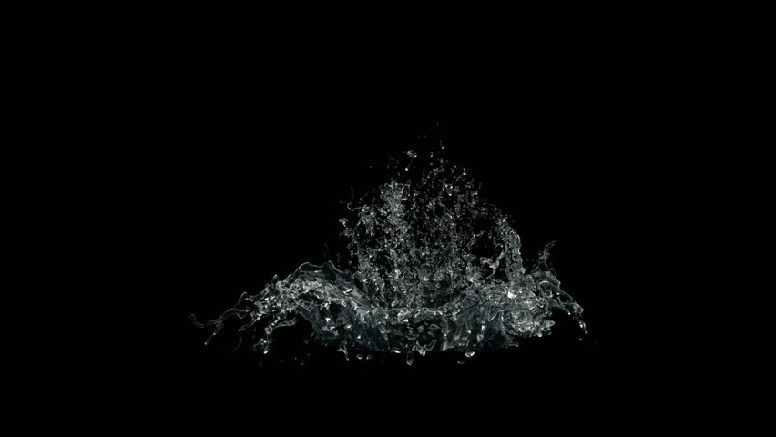 splashes of water on a black background alpha channel splashes liquid