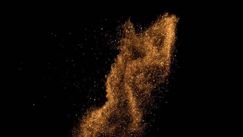Beautiful animation of multi-colored flying flickering particles scattered on a black background | Shutterstock HD Video #33740926