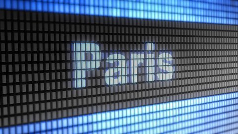 """""""Paris"""" on the Screen. 4K Resolution. Encoder Prores 4444. Great Quality. Looping."""
