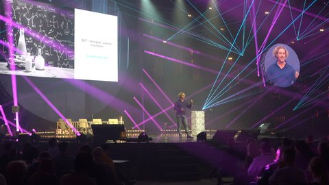 HELSINKI, FINLAND - NOVEMBER 30, 2017: Ken Mulvany - entrepreneur, investor in healthcare and technology industry. Startup and tech event Slush in Messukeskus Expo center. Non-profit event for