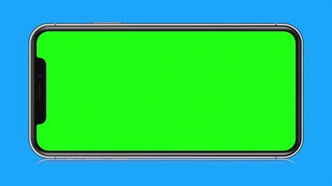 4K Illustration of Modern Fullscreen Smartphone Mobile Design Blue Background