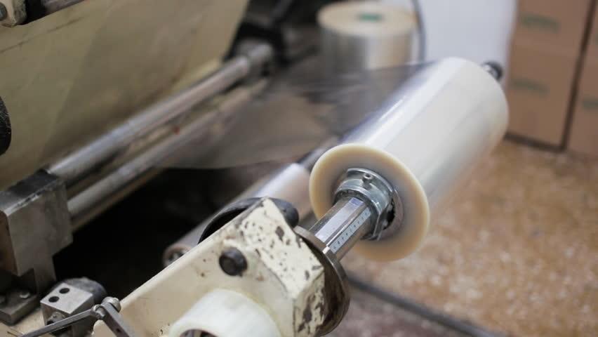 Manufacturer packing stretch film | Shutterstock HD Video #33897286