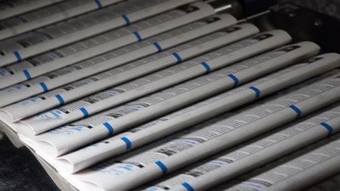 Make and print newspapers – print process – 4k