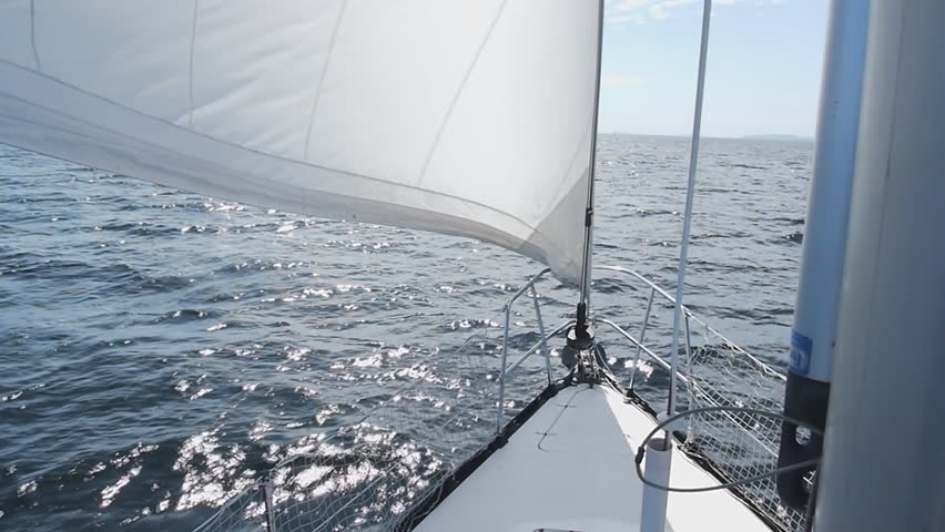 A sailboat from various perspective including wild angle and close up.