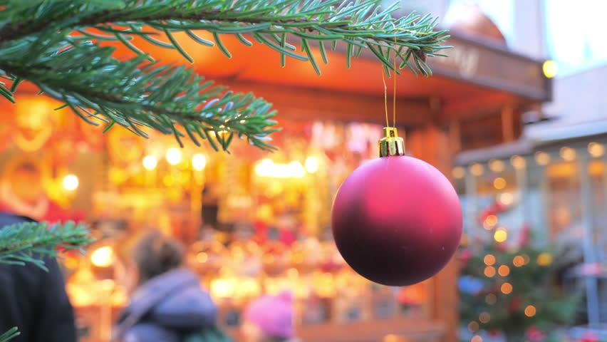 Christmas Market in Lubeck, Germany. Defocused background   Shutterstock HD Video #33989215