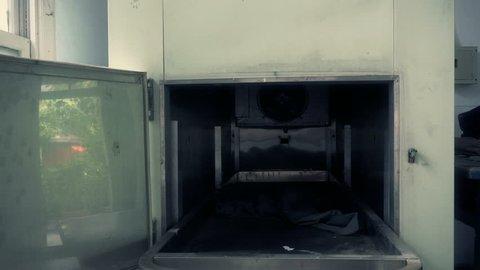 Mortuary freezer at abandoned  psychiatric hospital