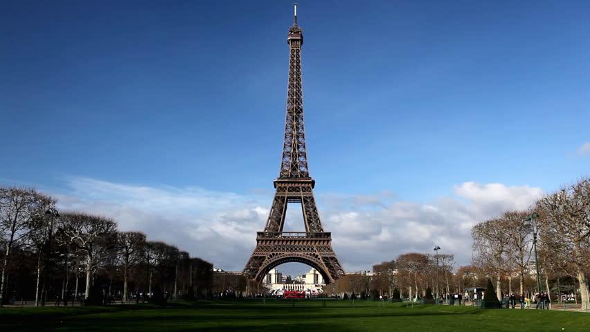 Eiffel Tower in Paris, Champ de Mars, France, Europe