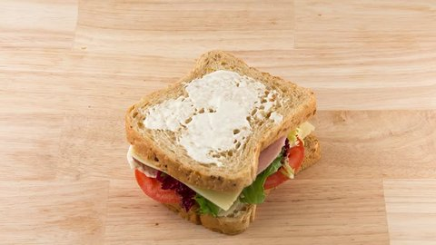 stop motion making sandwich