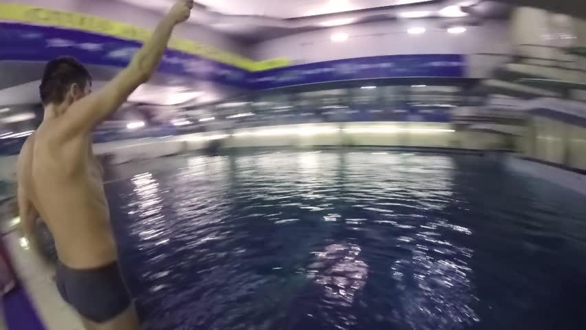 Selfie of Man Jumping in Stock Footage Video (100% Royalty-free) 34094566 |  Shutterstock