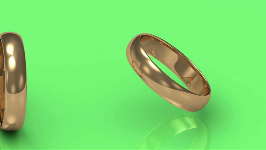 Green Screen With Rotating Gold Wedding Rings Stock Footage Video 3416096 Shutterstock