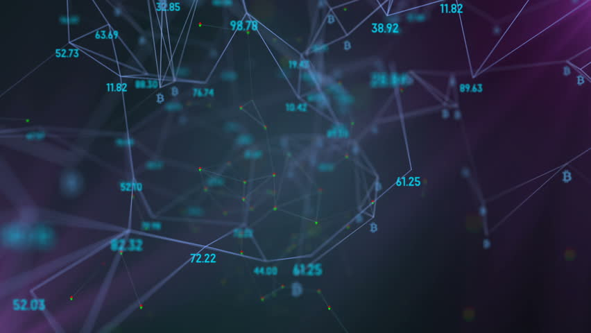 Growth of the world economic system, logo bitcoin. rotation in a circle. plexus network cinematic business background. seamless loop. | Shutterstock HD Video #34199656