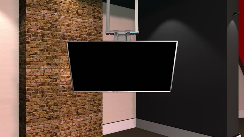 brick virtual set background