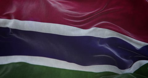 Gambia Flag Slow Motion Loop