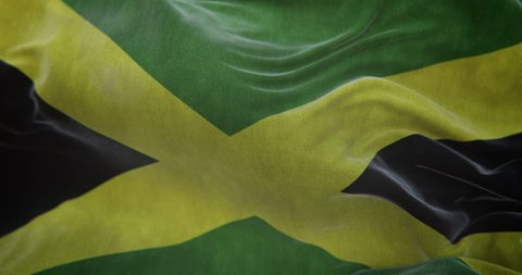 Jamaica Flag Slow Motion Loop